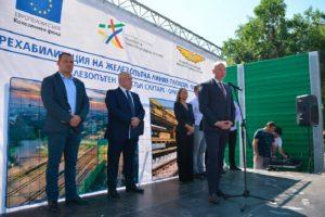 Росен Желязков откри в Белозем железопътен участък Скутаре-Оризово