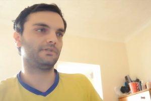 Стефан, който твърди, че жената е заснела клипа в премиерската спалня.