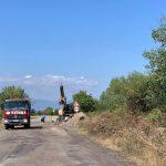 Ремонтът на пътя Карлово - с. Васил Левски