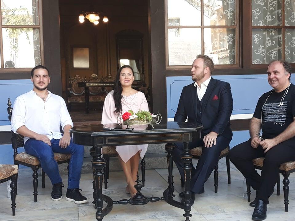 Божидар Божкилов, Соня Йончева, Марин Йончев и маестро Найден Тодоров