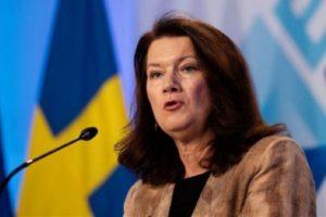 Ан Линде, външен инистър на Швеция