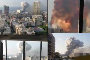 Ад под небето в Бейрут след мощната експлозия вчера.
