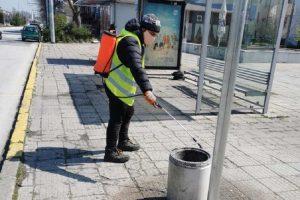 Ежедневно се дезинфекцират спирките в Пловдив