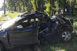 Така изглежда автомобилът след инцидента, снимка БНР- Радио Видин