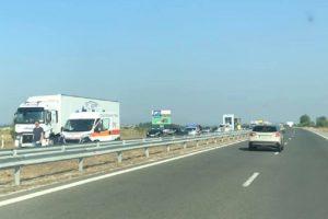 Катастрофата е на платното в посока Пловдив.