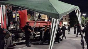 Акцията на полицията започна рано сутринта