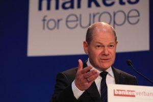 Олаф Шолц, министър на финансите на Германия