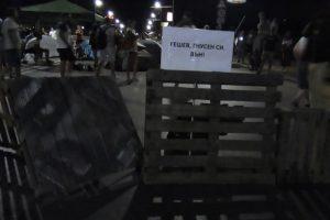 Сложиха и палети пред палатките на моста на Панаира
