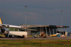 Перонът на летище Пловдив.