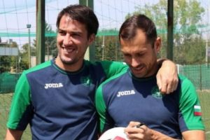 Ивелин Попов и Петър Занев - старият и новият капитан на лъвовете.