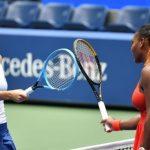Цветана Пиронкова и Серина Уилямс след мача им на US Open