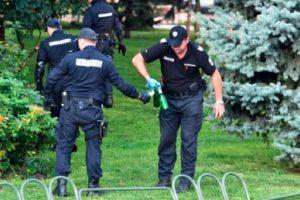 Полицаите претърсиха района на протеста