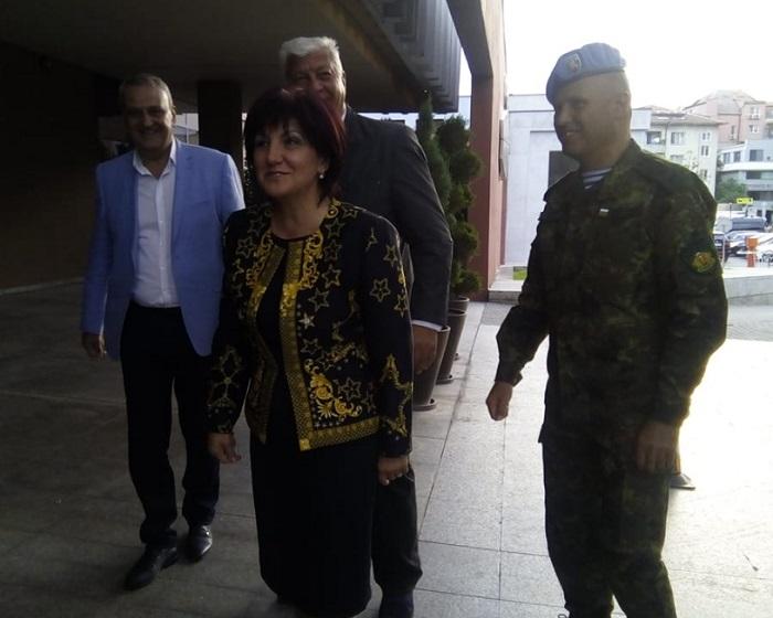 Здравко Димитров, Александър Държиков и Явор Матеев посрещнаха Цвета Караянчева
