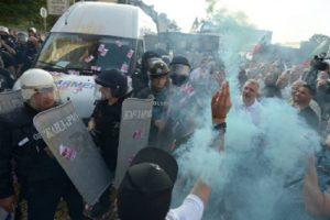 Имаше сблъсъци на протеста на 2 септември