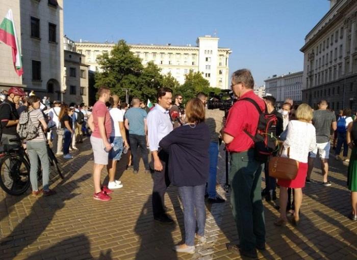 Вторият голям протест пред парламента протича спокойно