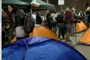 Новият палатков лагер.