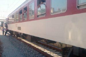 Пламна локомотивът на влака, снимка: bTV