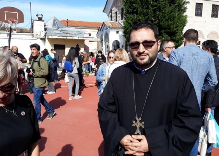 Отец Храч Мурадян - духовен пастир на арменците в Пловдив.