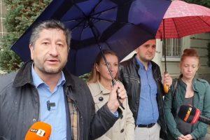 Акцията на Демократична България пред Община Пловдив.