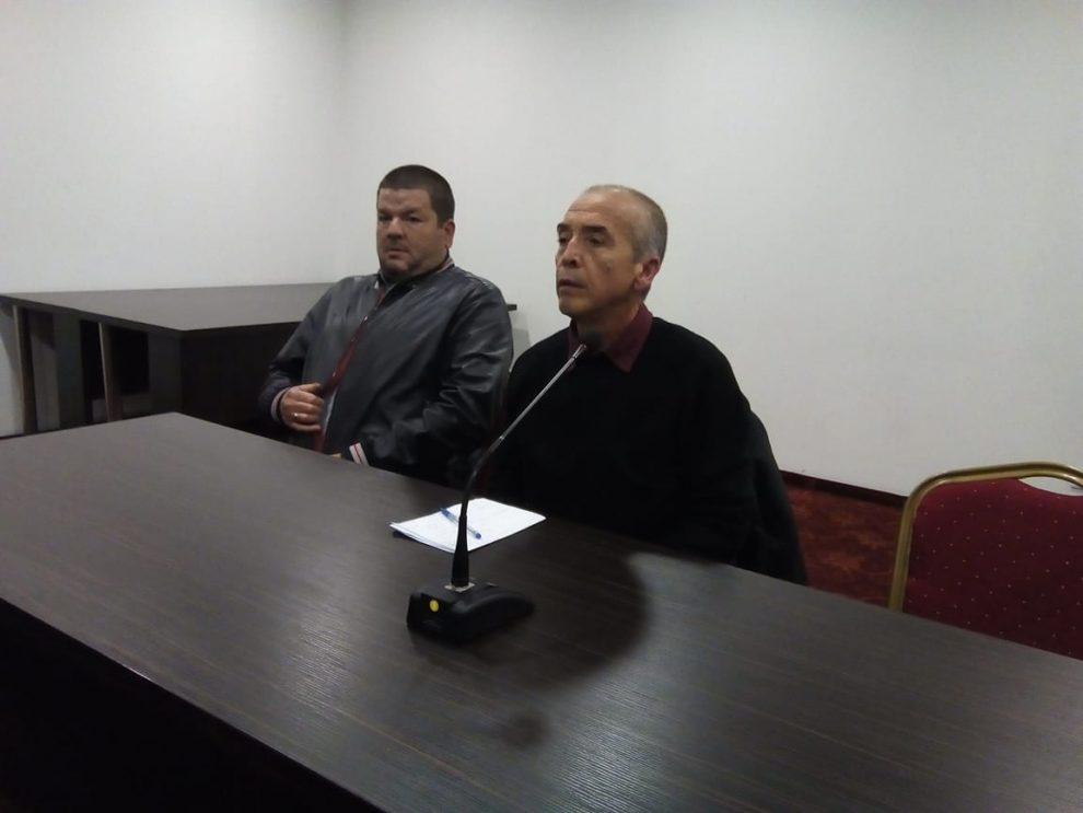 Доц. Атанас Мангъров и Владимир Маринов