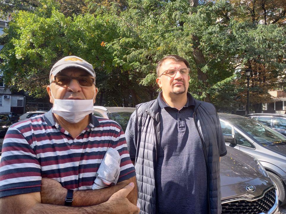 Настимир Ананиев (вдясно) на протеста.