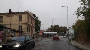 """Така изглежда ул. """"Патрирах Евтимий"""" в дъжда."""