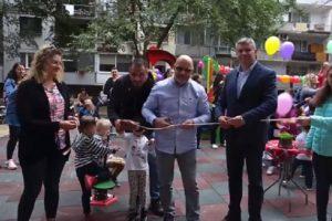 Стоян Алексиев открива обновената детска площадка