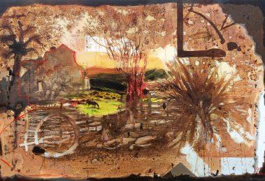"""Една от картините в изложбата - """"Пазачът на детството""""."""