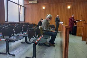 Ангел Солаков в съдебната зала.
