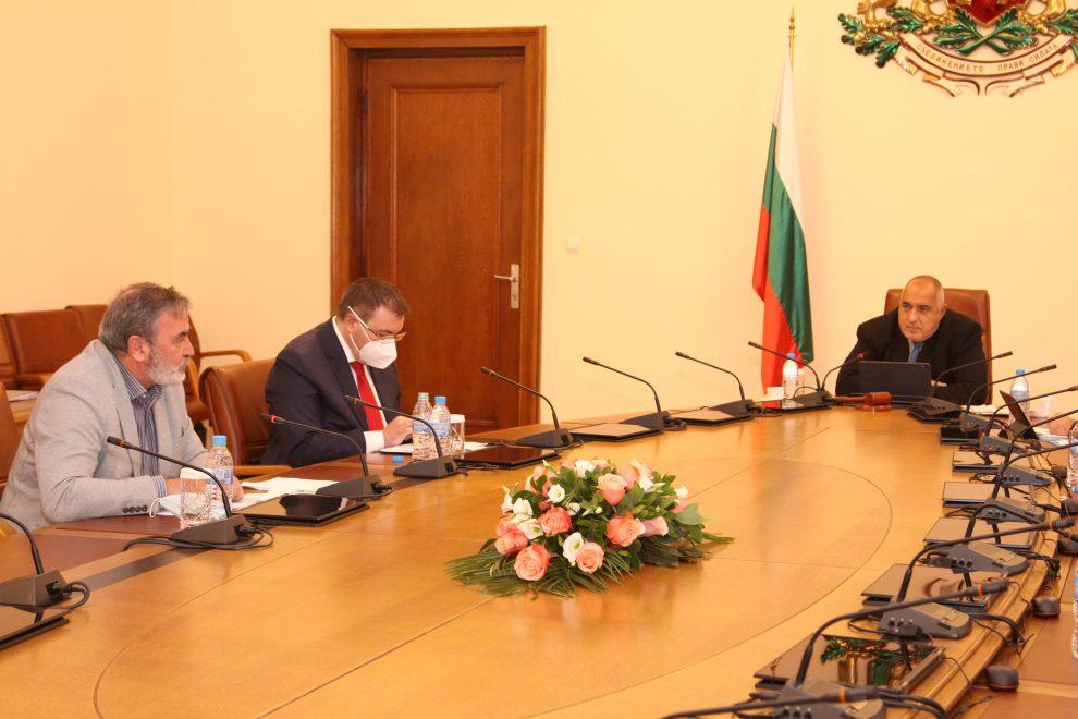 Срещата на Борисов със здравния министър и главния здравен инспектор.