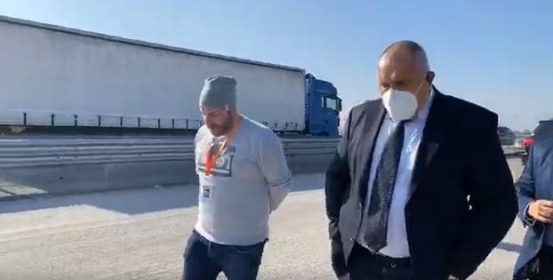 "Борисов на проверка на магистрала ""Тракия"""