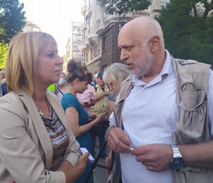 Мая Манолова и проф. Велислав Минеков
