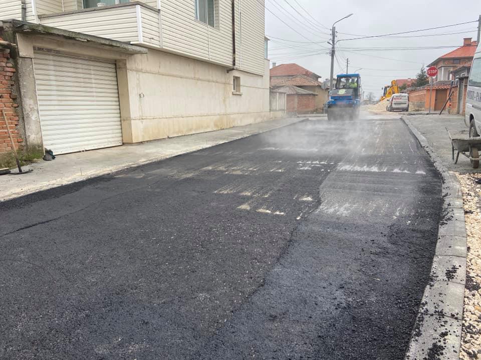 Част от преасфалтираните улици