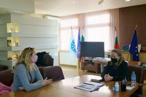 Срещата с Йолин Дончева от Асоциацията на студентите по медицина.