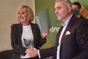 Мая Манолова и адвокат Николай Хаджигенов си стиснаха ръцете