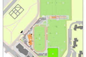 Зоната, в която ще бъде спортният комплекс.
