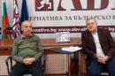 Доц. Атанас Мангъров и Румен Петков