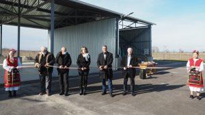 """Кметът на """"Марица"""" Димитър Иванов отряза лента на новоизградената компостираща инсталация"""