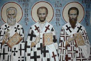 Тримата светители - Василий Велики, Григорий Богослов и Йоан Златоуст