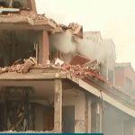 Сграда беше срината от експлозията, кадър: bTV