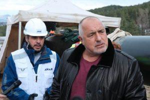 Борисов провери напредъка на строителните дейности по изграждането на междусистемната газова връзка Гърция-България