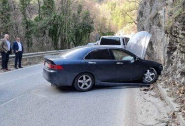 Зико и Рогачев край катастрофиралата хонда на попа