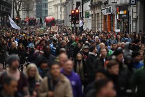 Протестите в Лондон Кадър: БНТ