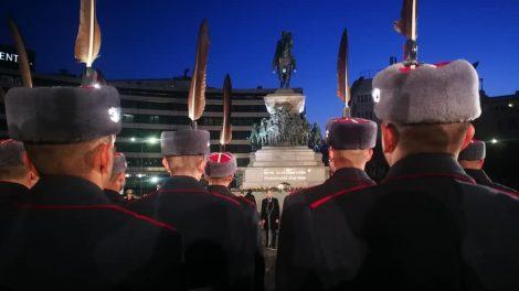 Тържествената заря-проверка в София.