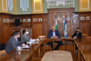 Срещата на Зико с представителите на ОССЕ.