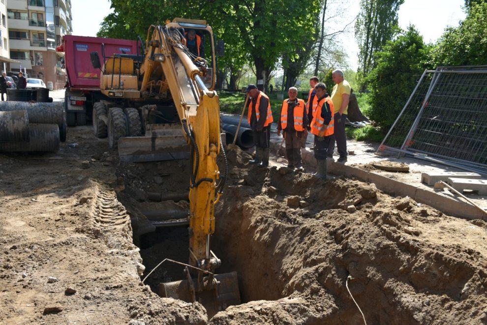 """Разкопаните улици в """"Северен"""" породиха сериозно недоволство."""