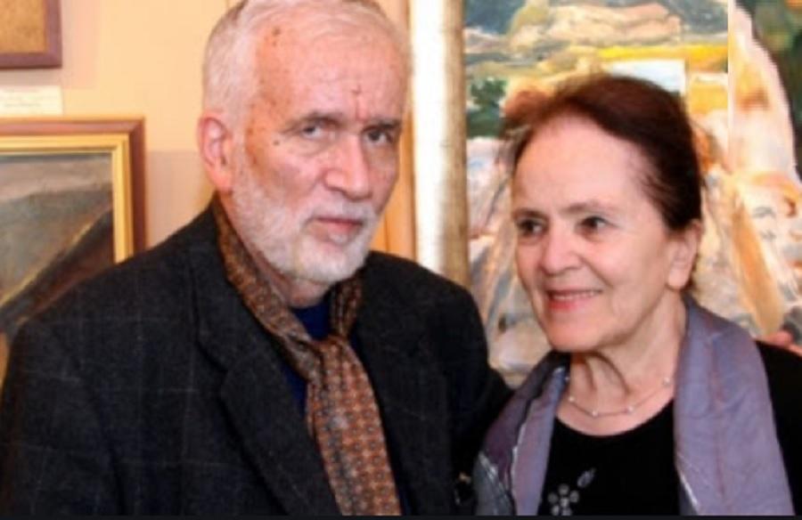 Любо Левчев и съпругата му Дора Бонева