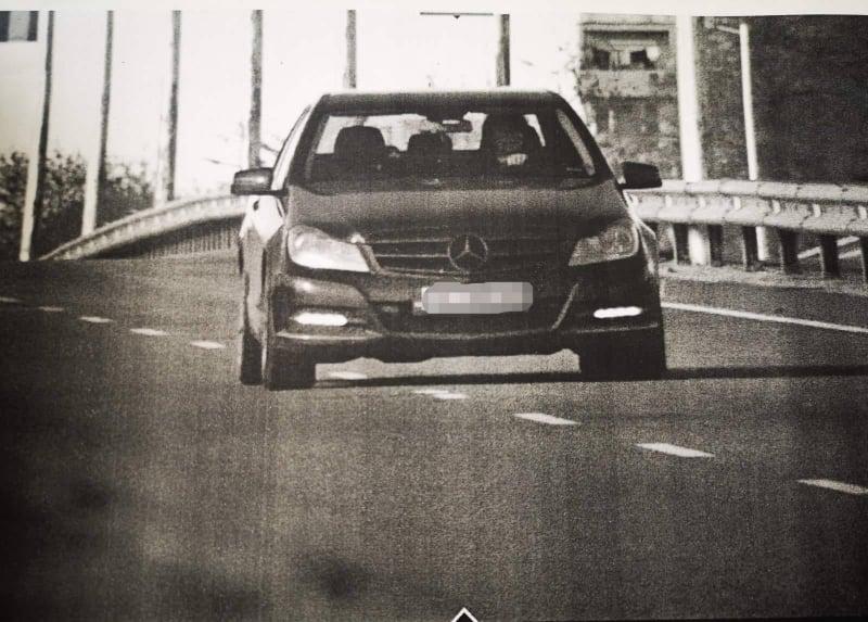 Колата на водачката нарушител