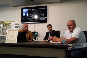 Ланд. арх. Петър Петров, Даниел Сереидо, Атанас Стафунски (вдясно)