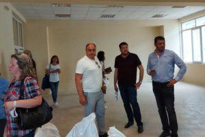 Кметът Павел Михайлов и заместникът му Владо Маринов инспектираха обекта.